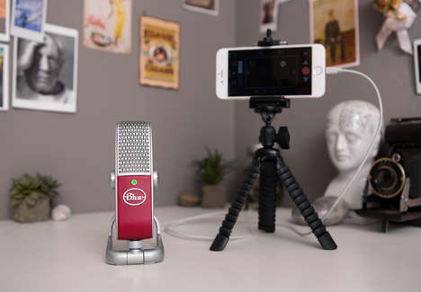 Miniature USB Microphones - The 'Blue Raspberry' is a Portable and Powerful Voice Recorder