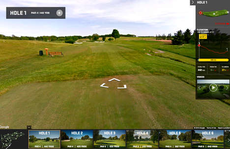 Online 360-Degree Golf Courses - Google has Created a 360-Degree Imaging for the Ryder Cup's Course