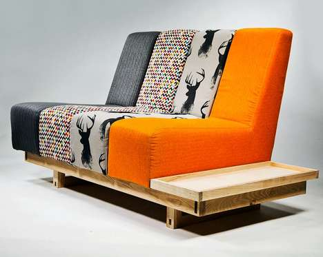 Small Space Couch Designs - The 'Addax' Sofa Design by Matthew Pope is Made for Small Living Units