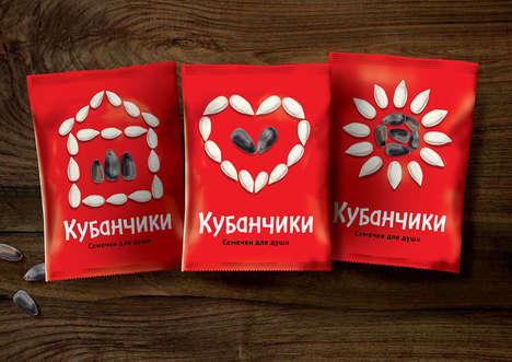 Heritage-Inspired Seed Packaging - The Kubanchiki Sunflower Seed Branding is Invitingly Simple