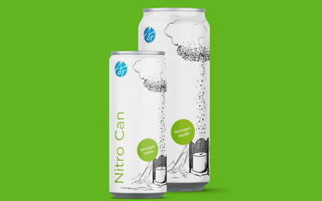 Nitrogen-Infused Coffee Packaging - The New Nitro Slim Can Features a Nitrogen-Filled Widget