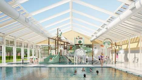Hybrid Swimming Pools - This Swimming Pool Facility Has Retractable Roofs and Walls