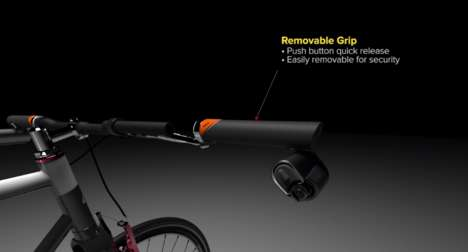 Haptic Cycling Lights - This Bicycle Lighting System Users Laser Signals and Haptic Feedback