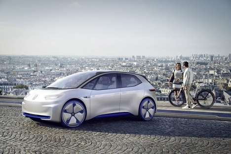 Quick-Charge Electric Automobiles - The Volkswagen ID Concept Sedan Charges to 80% in 15-Minutes
