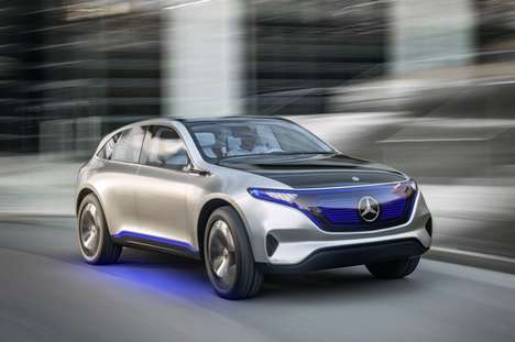 Luxury Electric Concept Cars - The Mercedes Generation EQ Merges EV Technology with SUV Style