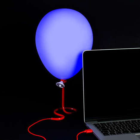 Illusionary Night Light Lamps - The Balloon Lamp Mimics the Aesthetic of a Helium Balloon