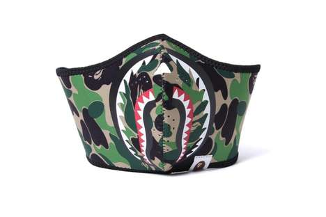 Camouflage Shark Masks - BAPE's Boldly Branded Accessories Were Made to Ward Off Seasonal Sickness