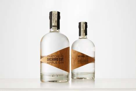 Wood-Labelled Gins - This Apple Gin Comes in a Bottle That Combines a Modern Look with a Rustic One