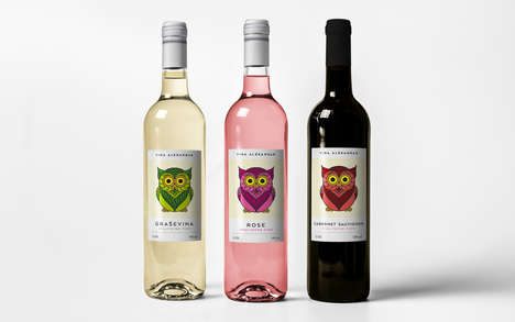 Avian Wine Branding - These Wines Come with a Distinct Playful Label