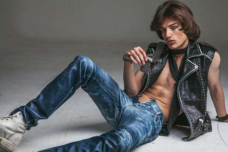 Divergent Rock Star Editorials - Serge Rigvava Lensed Louie Banks for Seventh Man Magazine