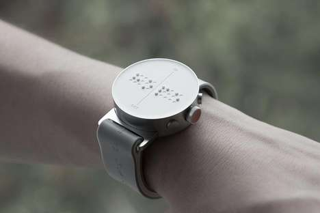 Aluminum Braille Timepieces - The 'Dot Watch' is a Light Watch That Tells Time Through Touch