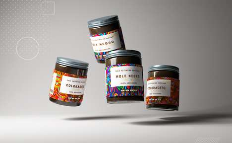 Cultural Mole Sauce Jars - These Sauces Come in Vibrant, Multi-Colored Jars