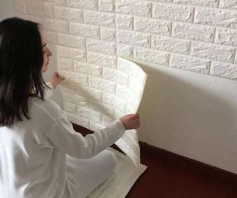 Soundproof Insulating Wall Stickers - These 3D Self-Adhesive Wall Stickers Add Visual Decor Appeal