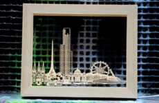 Light-Up Skyline Frames - The City Lights Frame Captures Imagery from Iconic Cities Around the World
