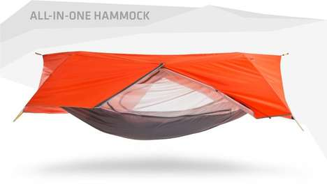 Transformable Tent Hammocks - This Tent Hybrid is Able to Function as a Hammock as Well