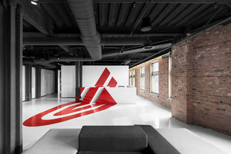 Illusory Office Logos - This Montreal-Based Office Has an Eye-Catching Lobby Area