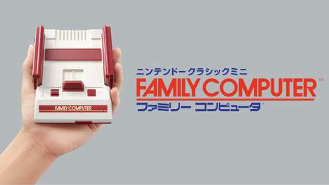 Nostalgic Mini Gaming Consoles - The Nintendo Famicom 8-Bit Mini Console Will Feature 30 Games