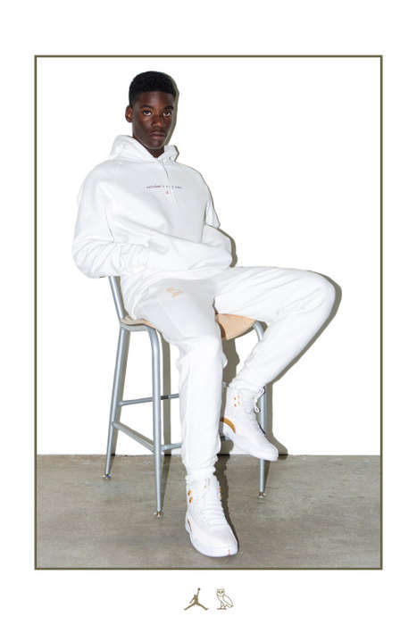 Gold-Gilded Rapper Fashion - The Jordan Brand OVO Collection Has a Luxe Minimalist Look