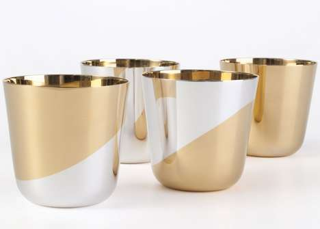 Gold-Plated Vessels - This Luxury Tableware Boasts an Upscale Handcrafted Design