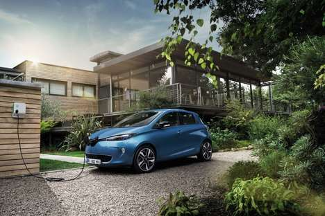 Energetic All-Electric Cars - The Renault ZOE Offers Improved Range and Power