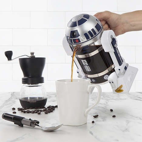 Science Fiction French Presses - The R2-D2 Coffee Press is a Licensed 'Star Wars' Product