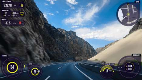 Detailed Dashboard Cameras - The Waylens Horizon Adds Statistical Information to Dashcam Footage