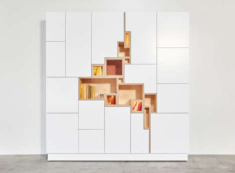 Fissure-Like Wall Cabinets - The 'Rupture' Cabinet Looks Like It is Emerging from a Crack
