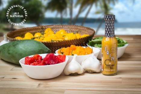 Peppery Caribbean Sauces - This Caribbean Hot Sauce Boasts a Bright Yellow Color