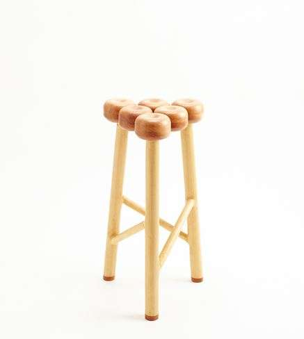 Apple-Honoring Furniture - KAMEI DESIGN Created an Apple-Inspired Stool with Kimura Woodcraft