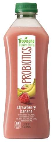 Delectable Probiotic Juices - Tropicana Essentials Probiotics Juices Promise Guaranteed Purity