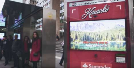 Interactive Karaoke Billboards - Santander's Fun City Billboards Appeal to Millennials