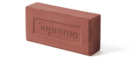 Branded Streetwear Bricks - Supreme's Newest Accessory is a Designer Brick in Red Clay
