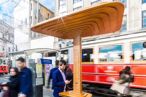 Phone-Charging Bus Stops - The 'Mito' Bus Stop Station is Outfitted with a Solar Panel for Charging
