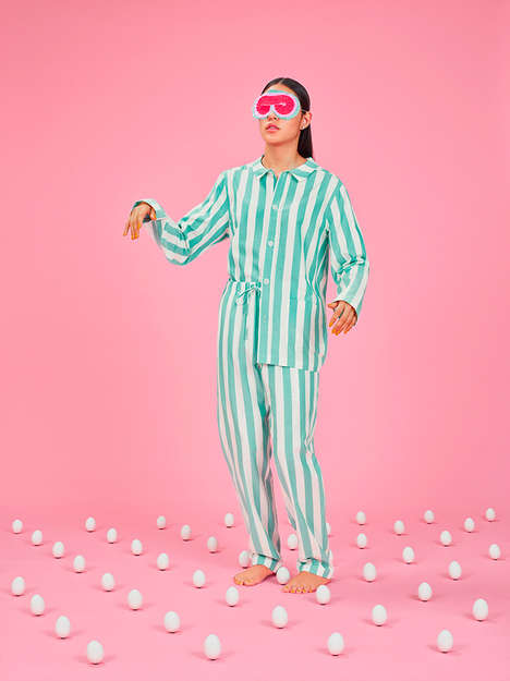 Peculiar Pajama Lookbooks - Nefferton Eccentrically Presents Its Unisex Pajamas with Help from Bisse