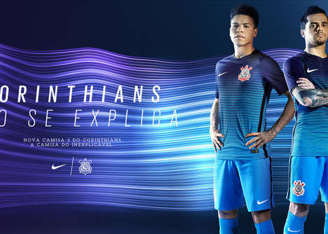 Electrifying Soccer Apparel - The Corinthians Kit Offers Maximum Ventilation and Eyecatching Style