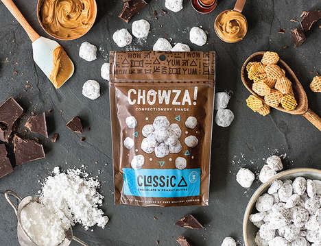 Tasty Confectionery Snack Packaging - 'Chowza!' Confections are Crispy Snacks with a Sweet Twist
