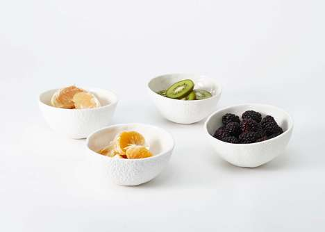 Literal Fruit Bowls - Areaware's Stone Fruit Bowls are Each Cast from Different Melon Rinds