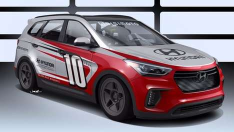Rip-Roaring Race Cars - The Hyundai Santa-Fast is Equipped With a Turbocharged Engine