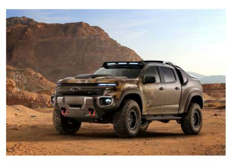 Experimental Military Trucks - The Chevrolet Colorado ZH2 Explores the Viability Of Fuel Cell Use