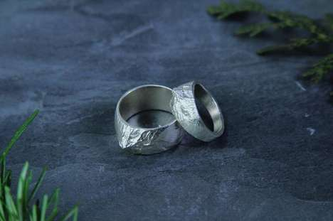 Mountainous Cartography Jewelry - 'Waaypoint' Cast Jewelry is Created Using NASA Mapping Data