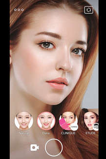Digital Makeup Apps - The LINE 'LOOKS' Makeup Camera App Lets Users Digitally Try Products Virtually