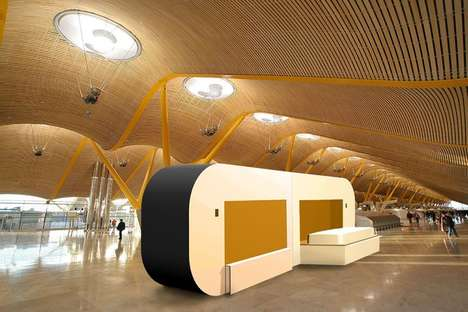 Airport Layover Sleep Pods - The 'aDream' Unit Provides a Tranquil Place to Sleep in the Terminal