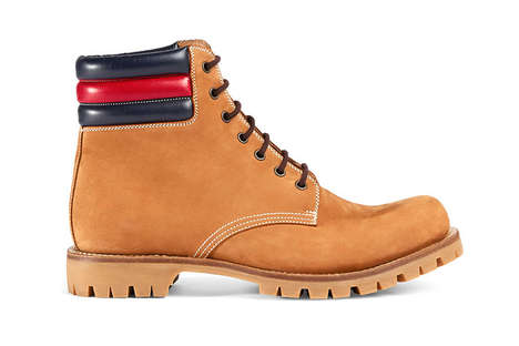 Luxuriously Branded Boots - These Gucci Timberlands Feature a Premium Suede and Leather Construction