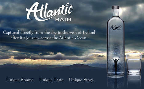 High-End Bottled Rainwater - 'Atlantic Rain' Bottled Drinking Water is Captured in Ireland