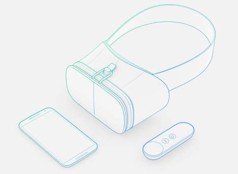 Felt VR Headsets - Google's Daydream View Headset is 30 Percent Lighter Than Others