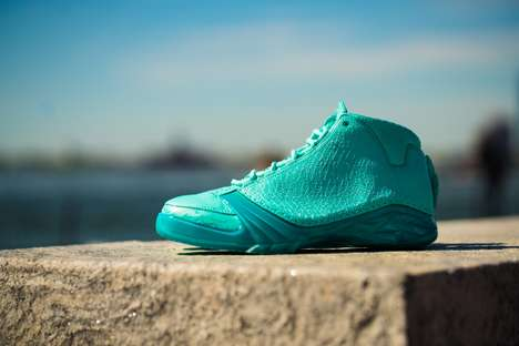 Baseball Team-Inspired Sneakers - These Turquoise Air Jordans Were Made to Honor the Florida Marlins