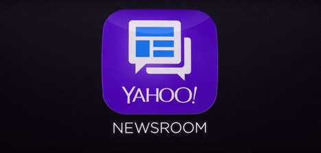 Social Newsroom Apps - Yahoo Newsroom is a New Social App from the Internet Giant