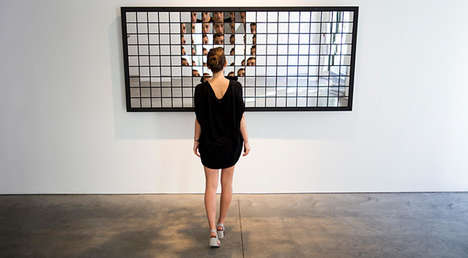 Reactive Mirror Fragments - This Mirror Responds to People as They Look into It