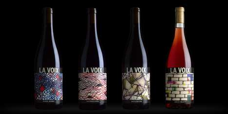 Song-Inspired Wines - This Musical Wine Branding Features Dynamic Hand-Drawn Art