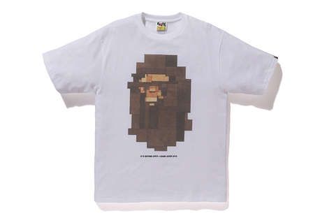 8-Bit Streetwear Shirts - BAPE and Adam Lister Collaborated to Produce Streetwear with a Twist